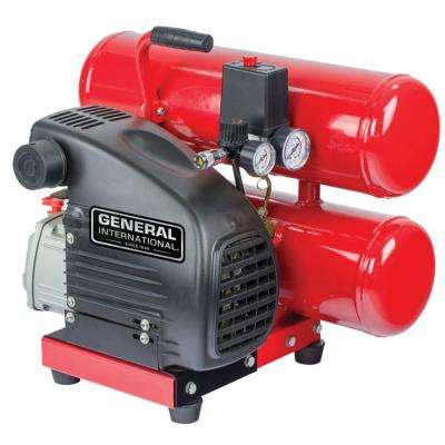 4 Gal. 1.5 HP Oil-Lubricated Portable Electric 2-Stack Air Compressor