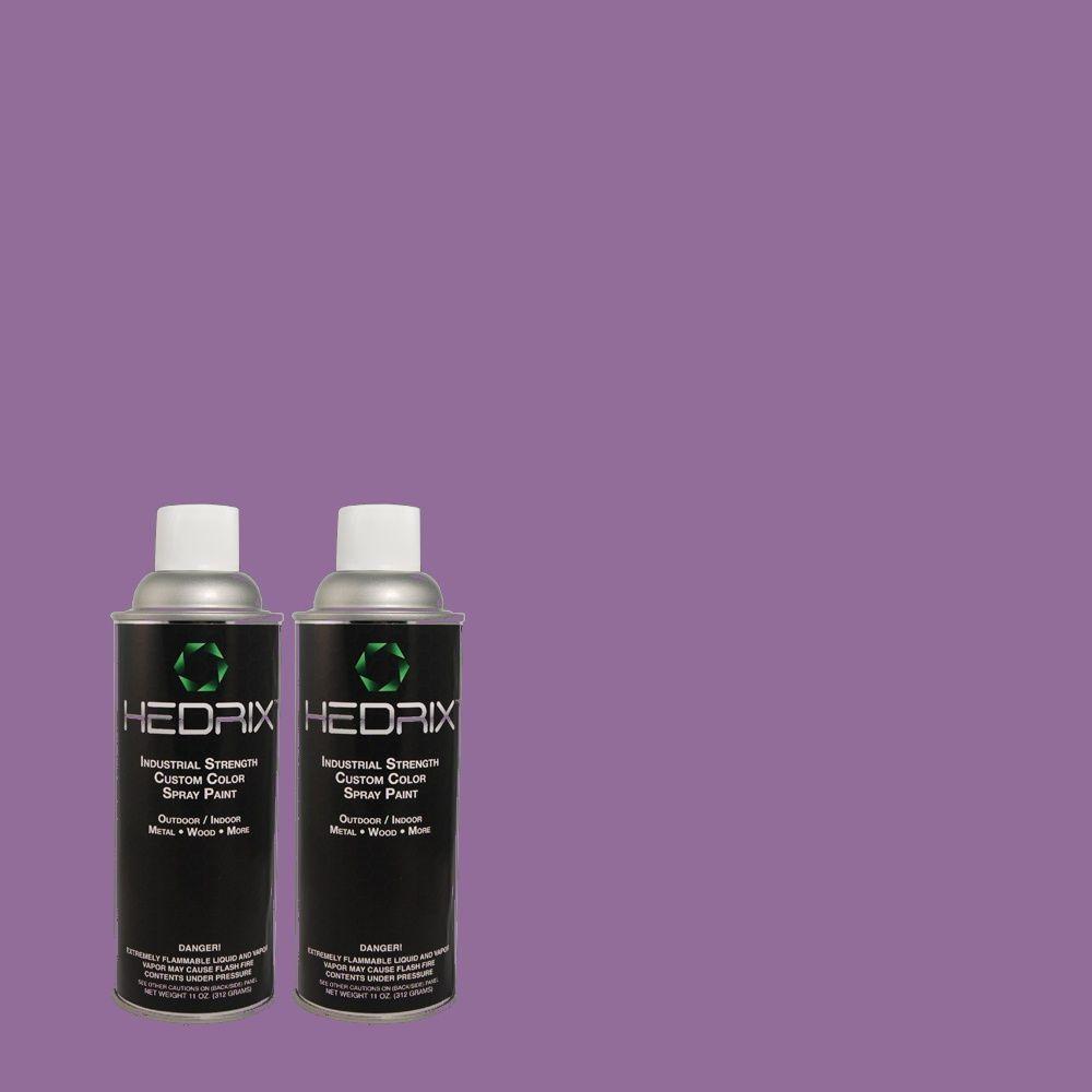 Hedrix 11 oz. Match of PPU16-3 Purple Paradise Flat Custom Spray Paint (2-Pack)