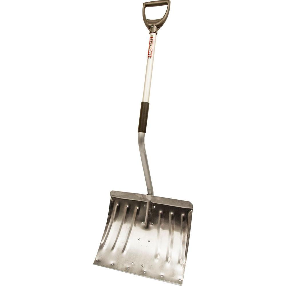 Original Back-Saver 18 in. Ergonomic Aluminum Handle Combo Aluminum Blade Snow Shovel