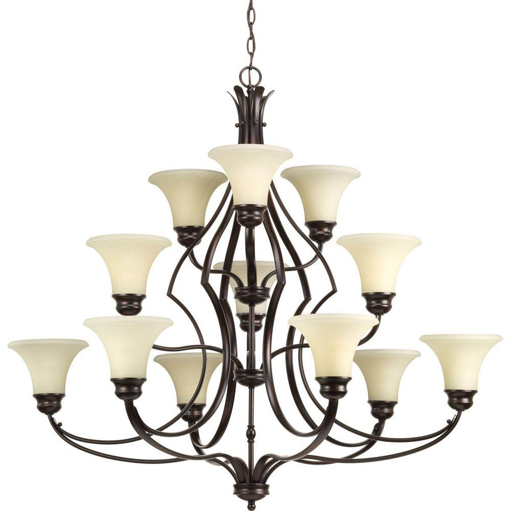 Progress lighting applause collection 12 light antique bronze progress lighting applause collection 12 light antique bronze chandelier with tea stained spotted glass aloadofball Choice Image