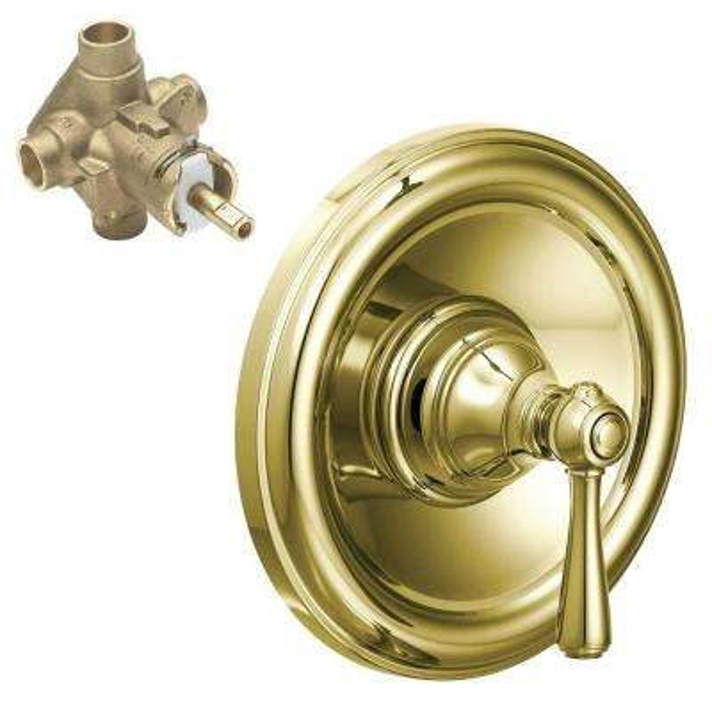 Kingsley 1-Handle PosiTemp Valve Trim Kit with Valve in Polished Brass