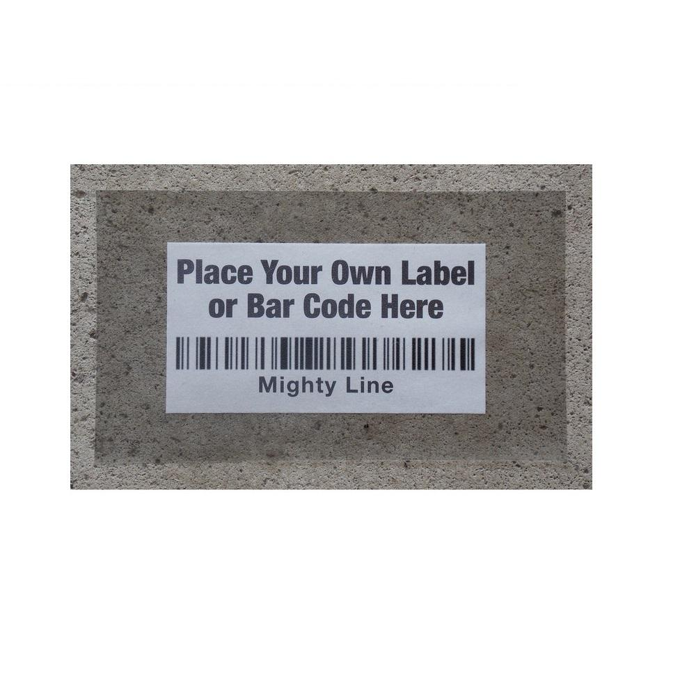 Mighty Line 10 in. x 13 in. Jumbo Clear Label Protectors (100-Pack) Mighty Line Floor Label Protectors are a great tool for protecting floor barcode or labels. Make your own custom label or barcodes and place Mighty Line clear labels over your personal labels. Floor protection labels are a great solution to continuously replacing labels in the warehouse.