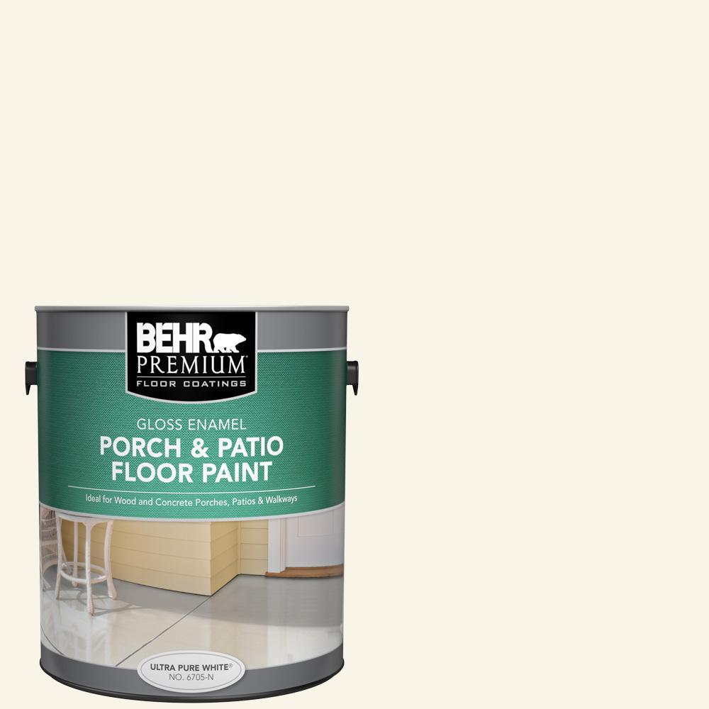 Behr Premium 1 Gal W D 200 Pot Of Cream Gloss Enamel Interior Exterior Porch And Patio Floor Paint 670501 The Home Depot