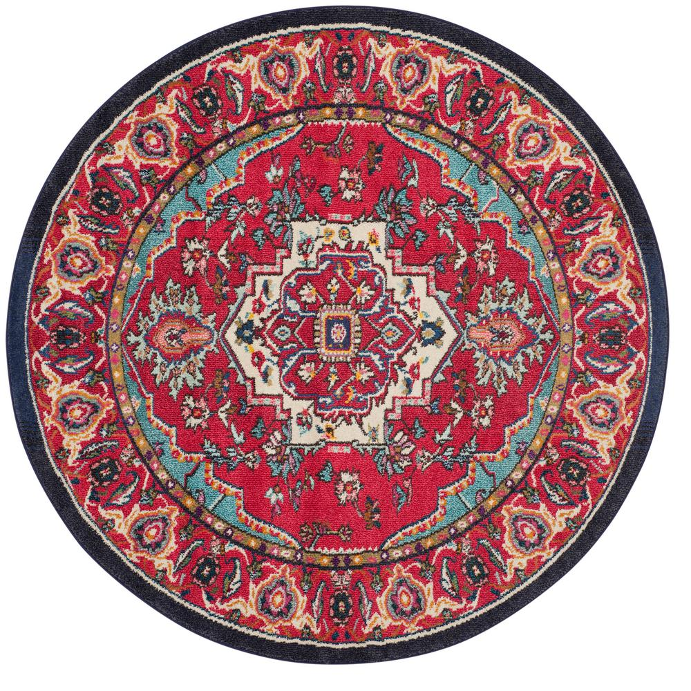 San Juan Turquoise Accent Rug: Safavieh Monaco Red/Turquoise 6 Ft. 7 In. X 6 Ft. 7 In