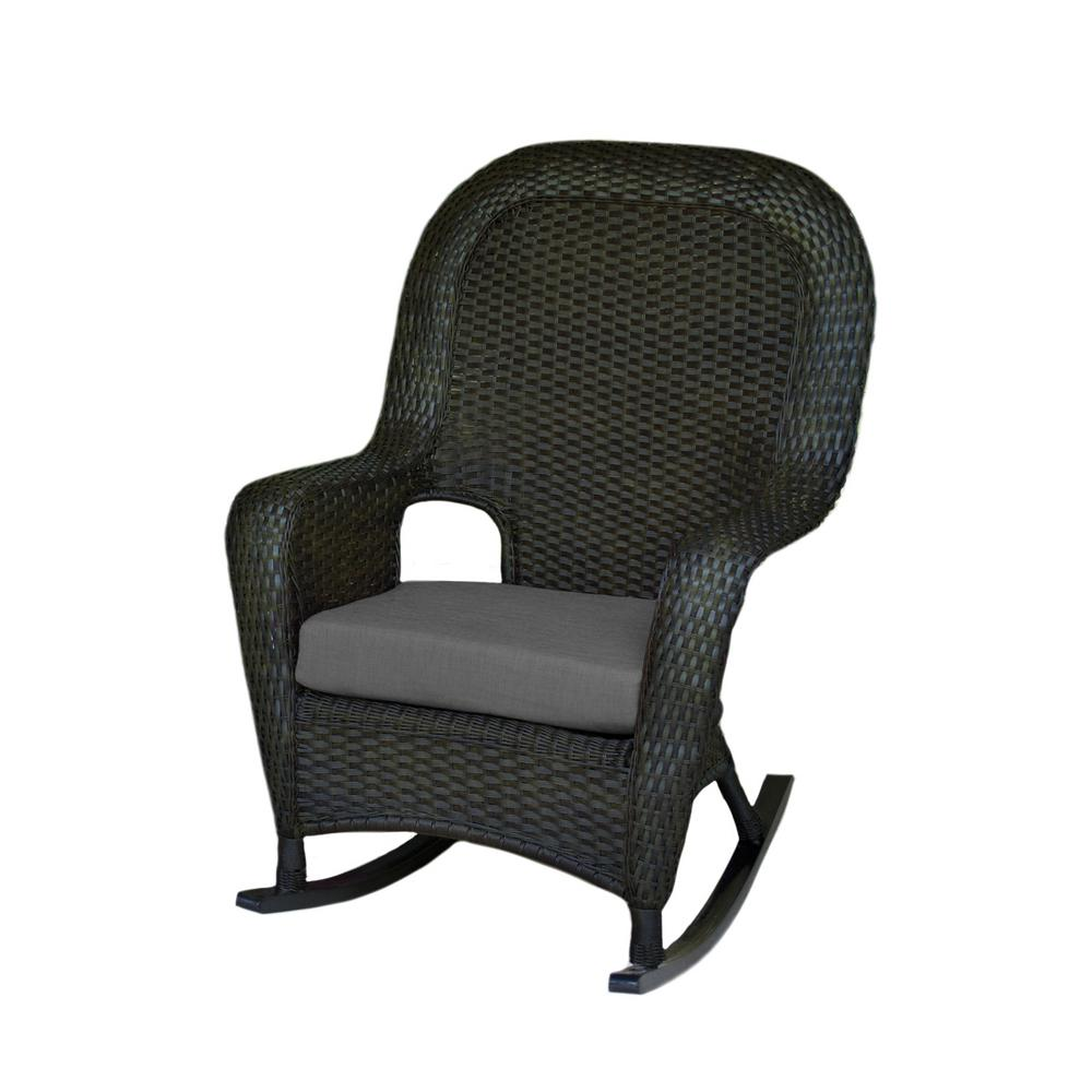 Tortuga Outdoor Sea Pines Tortoise Wicker Outdoor Rocking Chair With