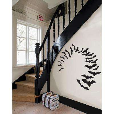 24 in. x 17.5 in. Little Bats Small Wall Art Kit