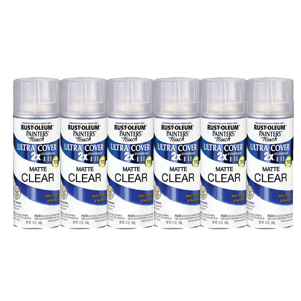 Painter's Touch 12 oz. Clear Matte Spray Paint (6-Pack)DISCONTINUED