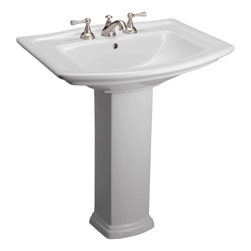 Pedestal Sinks Bathroom Sinks The Home Depot