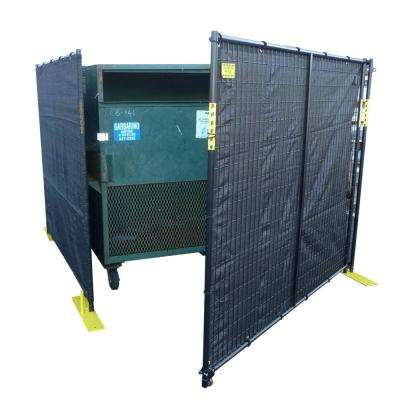 6 ft. H x 15 ft. W Dumpster Enclosure 4-Sided
