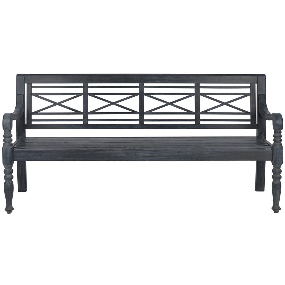 Karoo Ash Gray Patio Bench