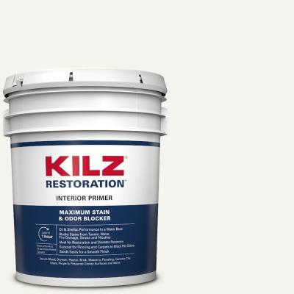 Zinsser Bulls Eye 1 2 3 5 Gal White Water Based Interior Exterior Primer And Sealer 2000 The Home Depot