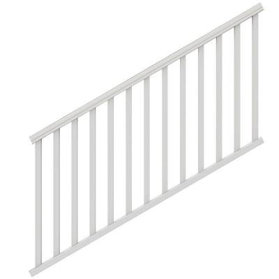 Traditional 6 ft. x 36 in. White PolyComposite Stair Rail Kit without Brackets