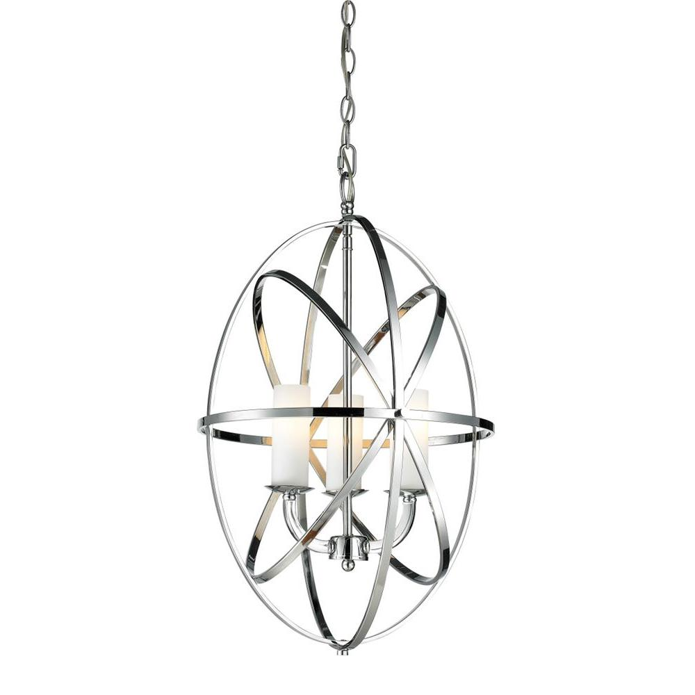 Gala 3-Light Chrome Pendant