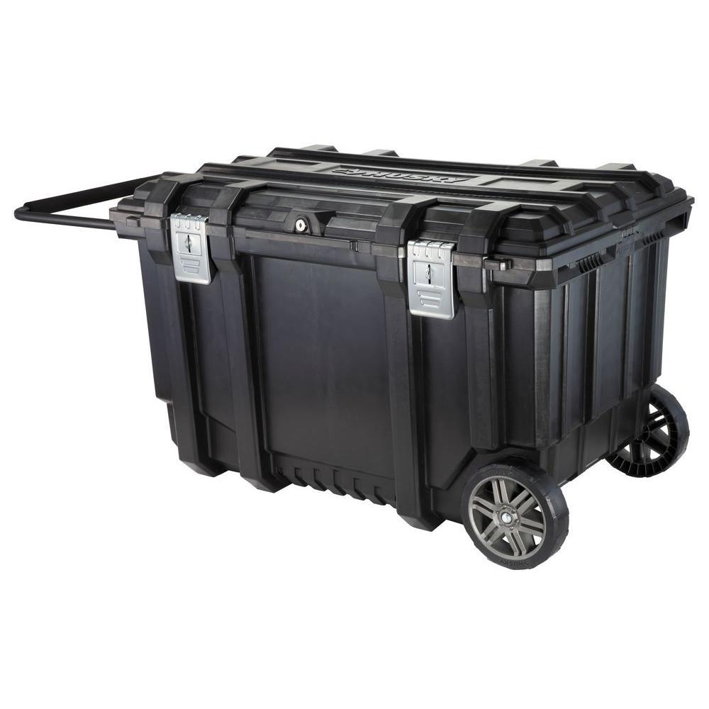 Husky 37 in. Mobile Job Box Utility Cart Black