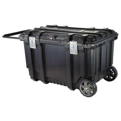 37 in. Mobile Job Box Utility Cart Black