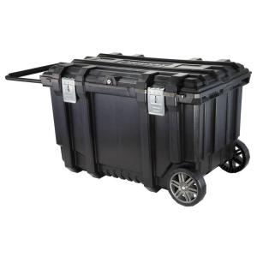 Husky 37 In Mobile Job Box Utility Cart Black 209261