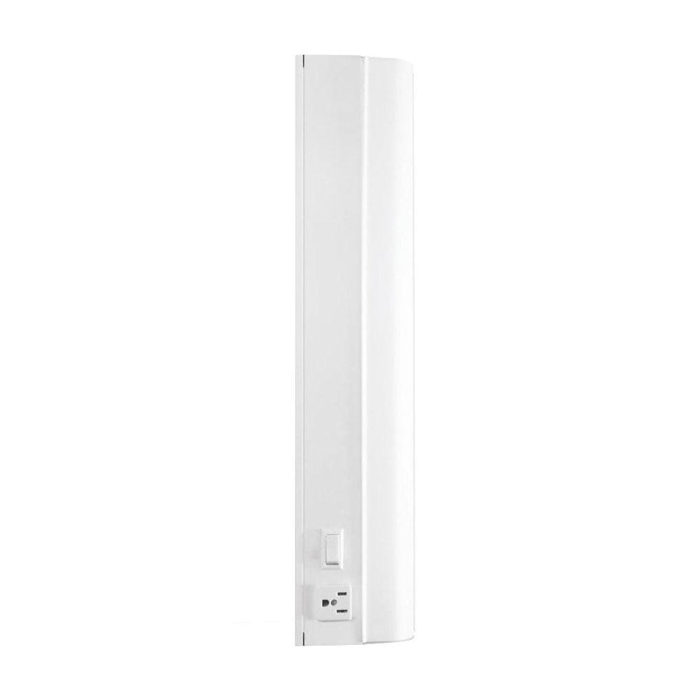 Westek 18.3 in. Flourescent White 15-Watt Direct Wire with Outlet