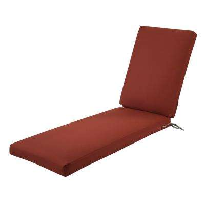 Ravenna Spice 72 in. L x 21 in. W x 3 in. Thick Outdoor Chaise Lounge Cushion