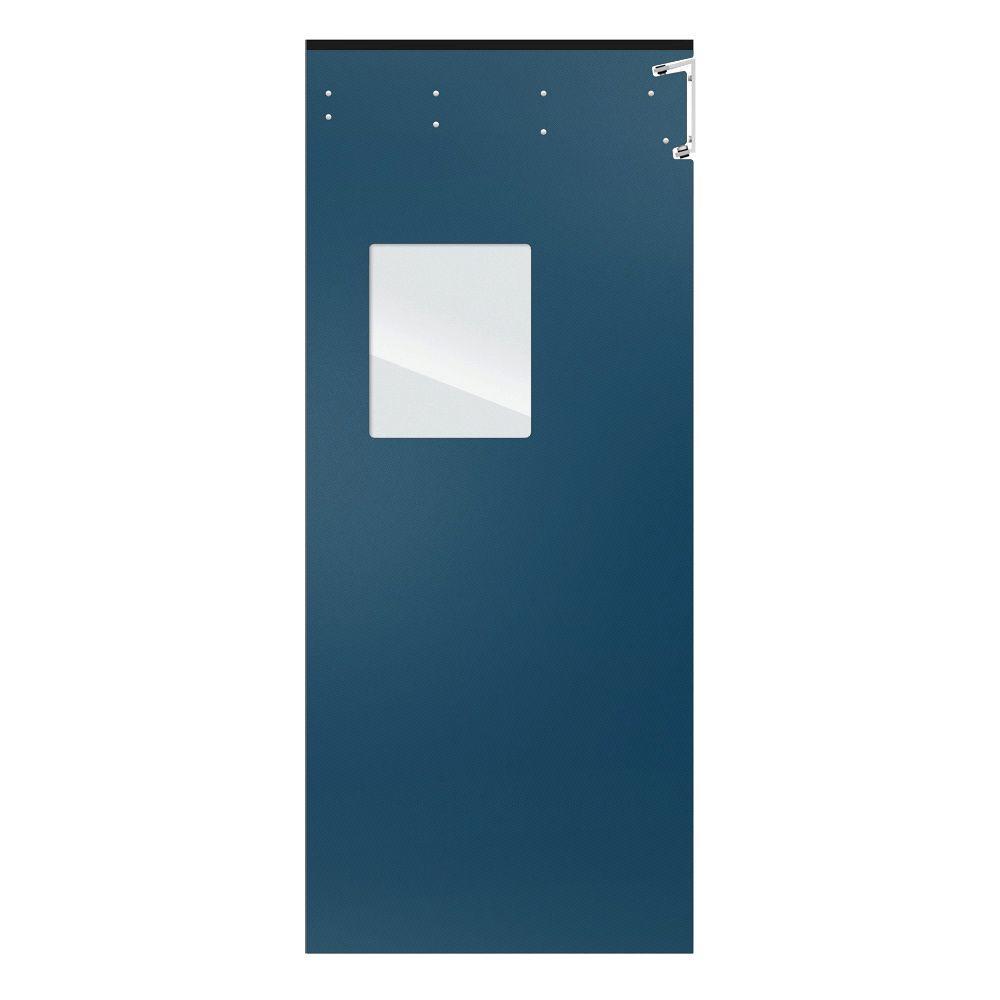 Aleco ImpacDor Optima 1/4 in. x 48 in. x 96 in. Single-Ply Blue Impact Door