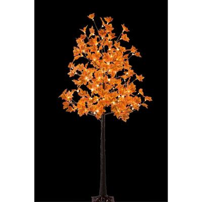 6 ft. Pre-Lit Maple Tree with 120 Warm White Lights