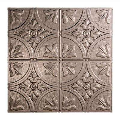 Traditional 2 - 2 ft. x 2 ft. Lay-in Ceiling Tile in Galvanized Steel