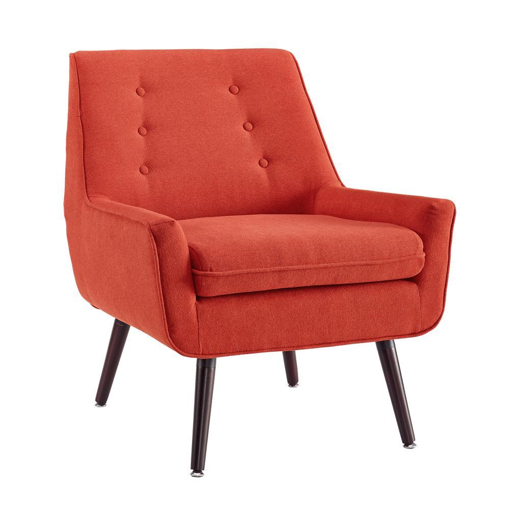 Lynne Pimento Orange Upholstered Chair