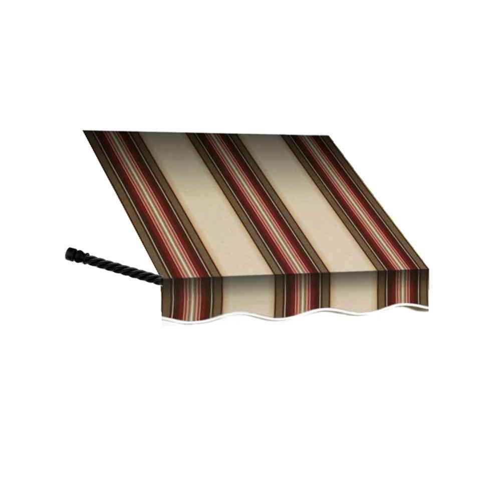 AWNTECH 6 ft. Santa Fe Twisted Rope Arm Window Awning (31 in. H x 12 in. D) in Brown/TerraCotta