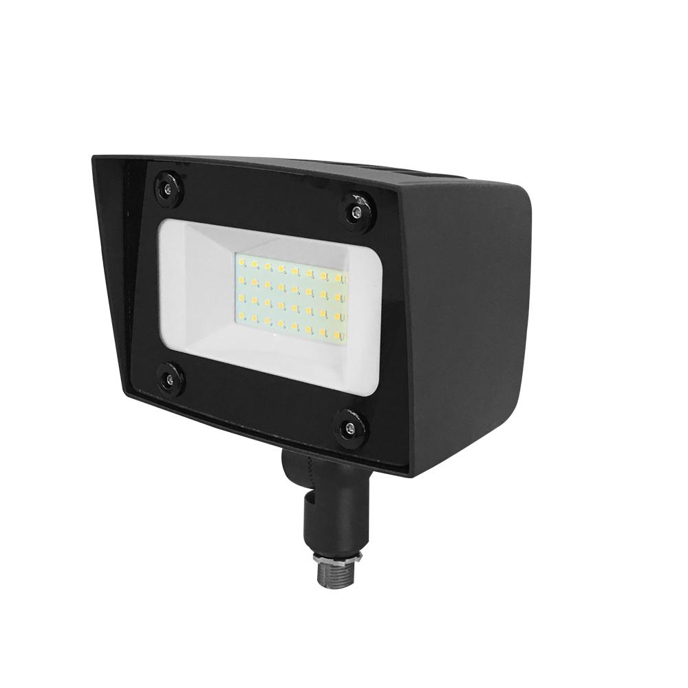 Asimo 20-Watt Bronze Outdoor Integrated LED Flood Light with Integrated