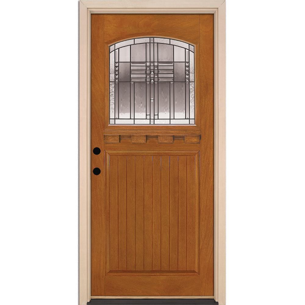 Feather River Doors 375 In X 81625 In Monroe Patina Craft Arch 1