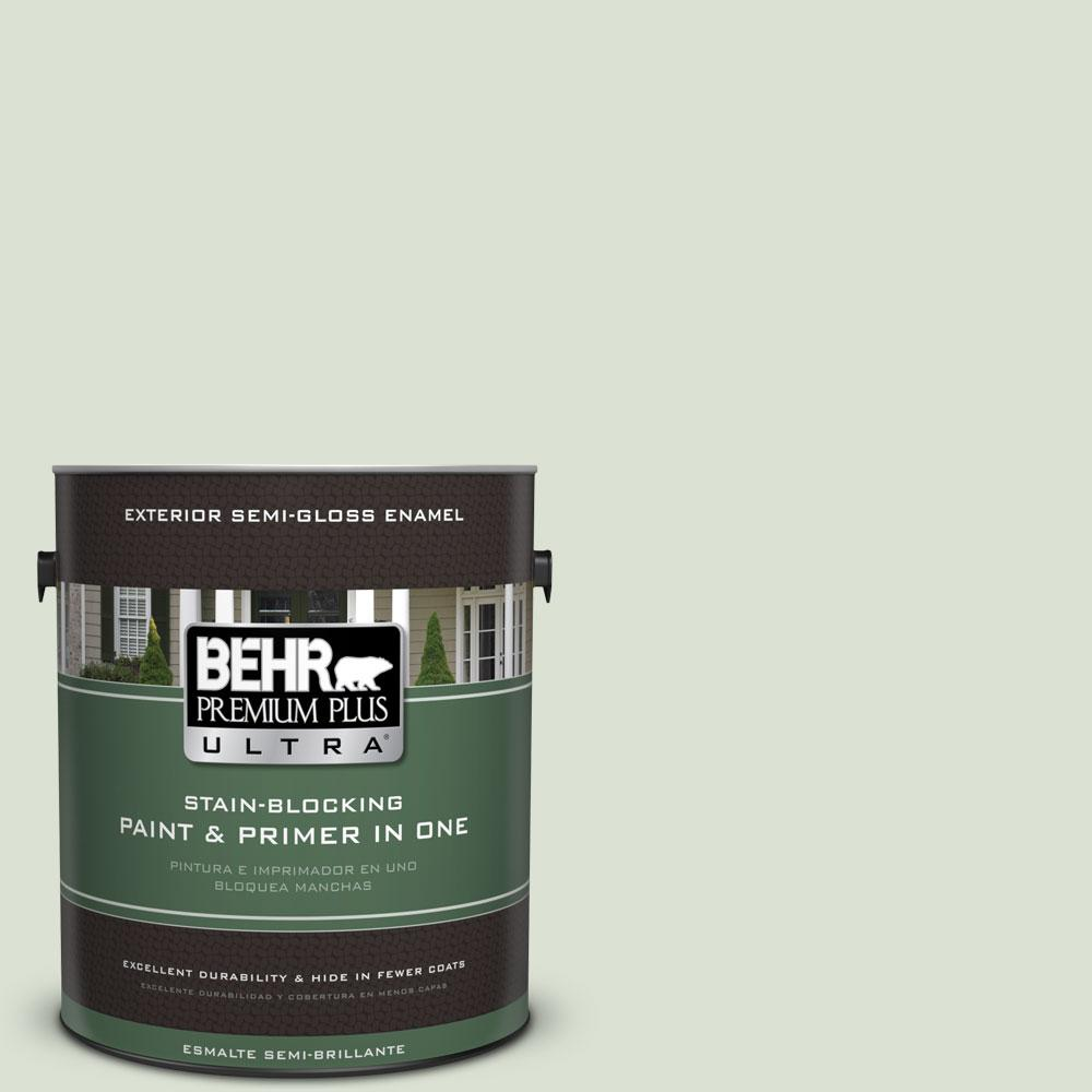 BEHR Premium Plus Ultra 1-gal. #430E-2 Mystical Sea Semi-Gloss Enamel Exterior Paint