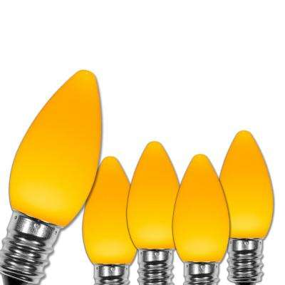 C7 LED Gold Smooth/Opaque Christmas Light Bulbs (25-Pack)