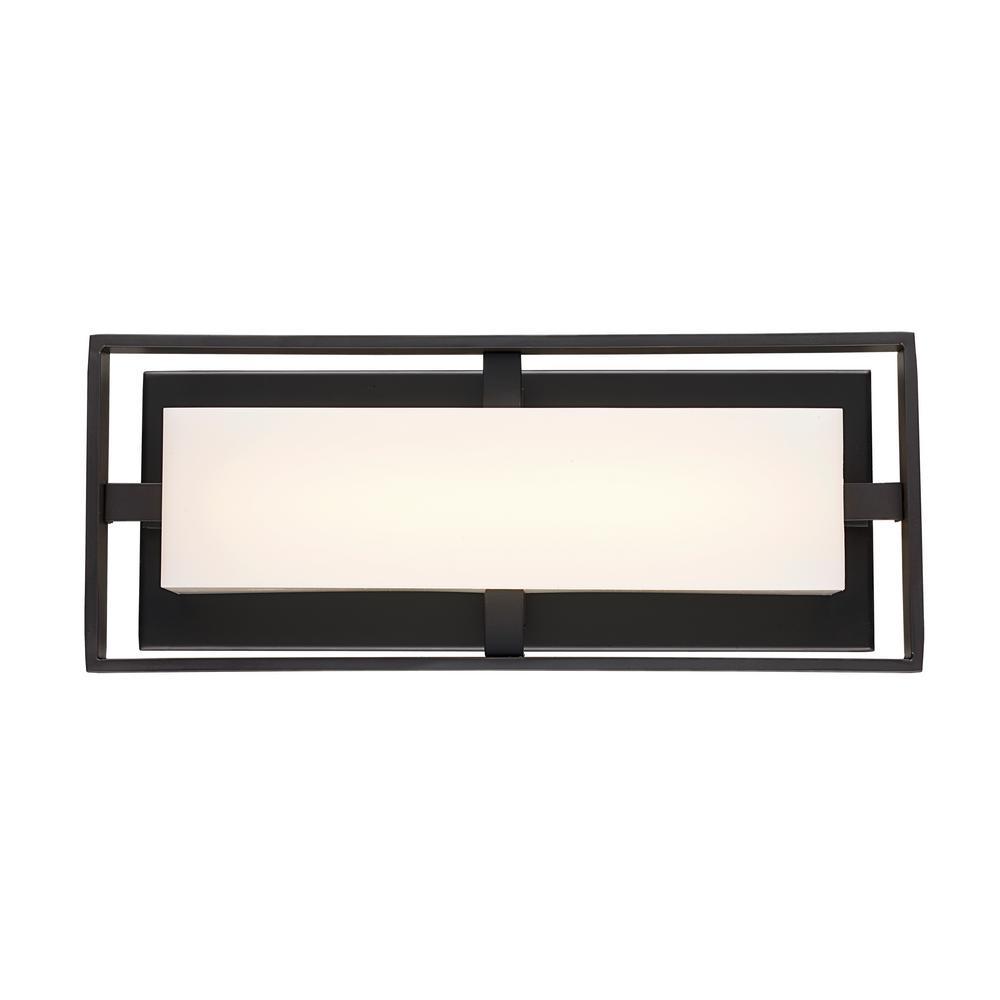 Bento 18-Watt Oil Rubbed Bronze Integrated LED Bath Light