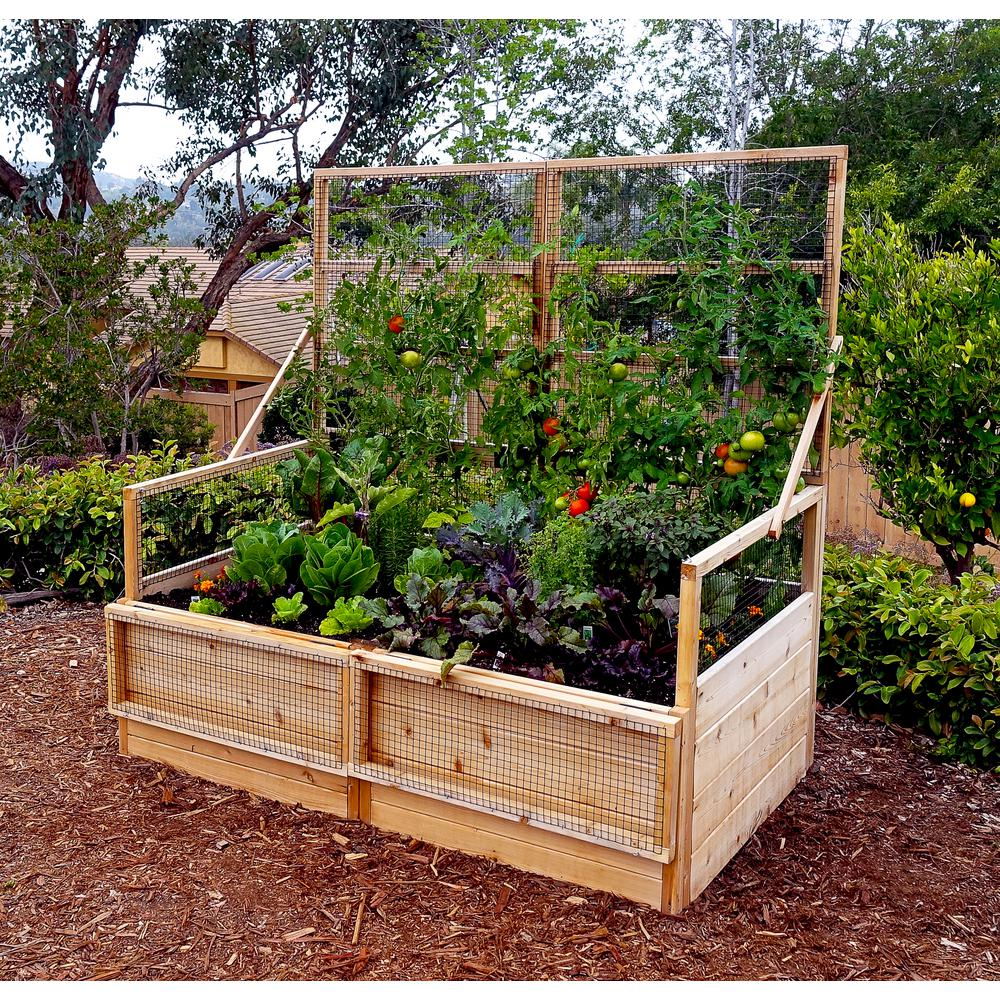 Outdoor Living Today 6 Ft X 3 Ft Garden In A Box With Trellis