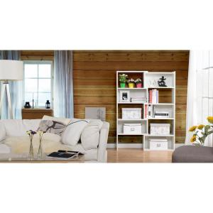 White Open Bookcase by