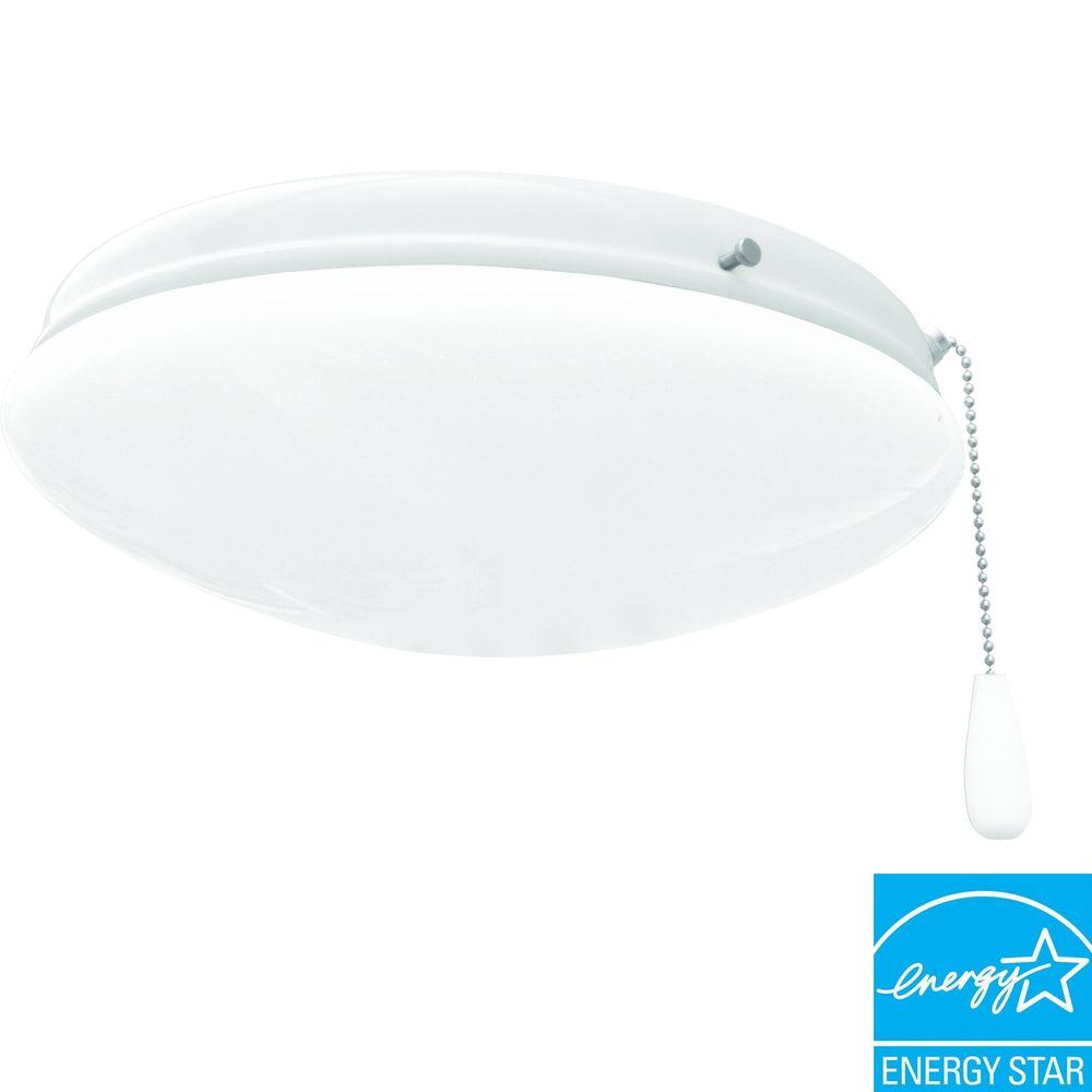 Progress Lighting AirPro 2-Light White Ceiling Fan Light