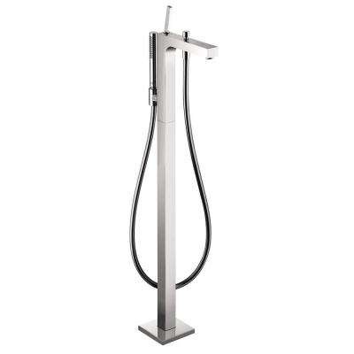 Citterio 1-Handle Freestanding Roman Tub Filler in Chrome (Valve Not Included)