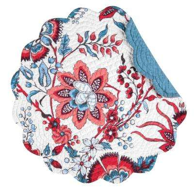 Adrienne Round Blue Placemat (Set of 6)