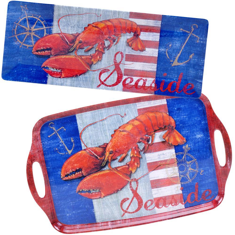 Maritime Collection 2-Piece Lobster Platter Set