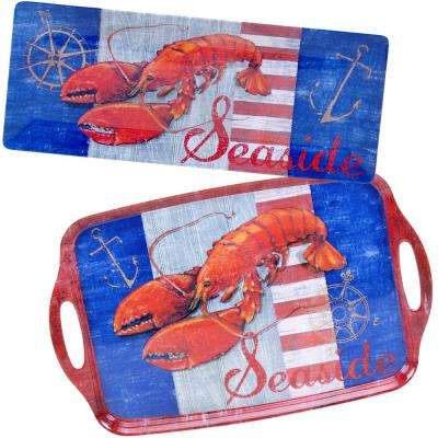 Maritime Collection 2-Piece Lobster Platter Set