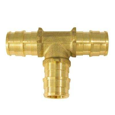 1/2 in. Brass PEX-A Expansion Barb Tee (10-Pack)