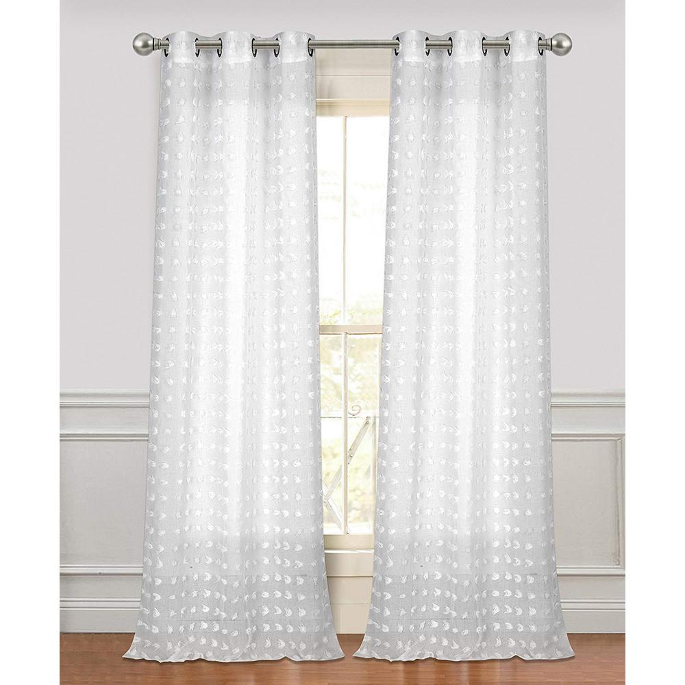NEW Elegant Woven Textured Valance Lace curtain Water Repellent Window Covering