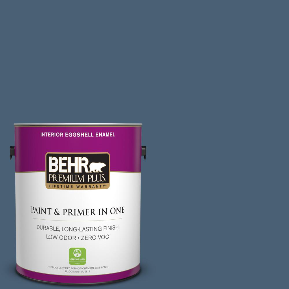 1 gal. #PPU14-19 English Channel Zero VOC Eggshell Enamel Interior Paint