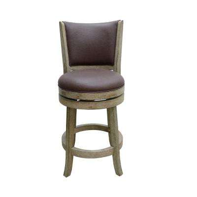 Toledo 24 in. Barstool in Weathered White