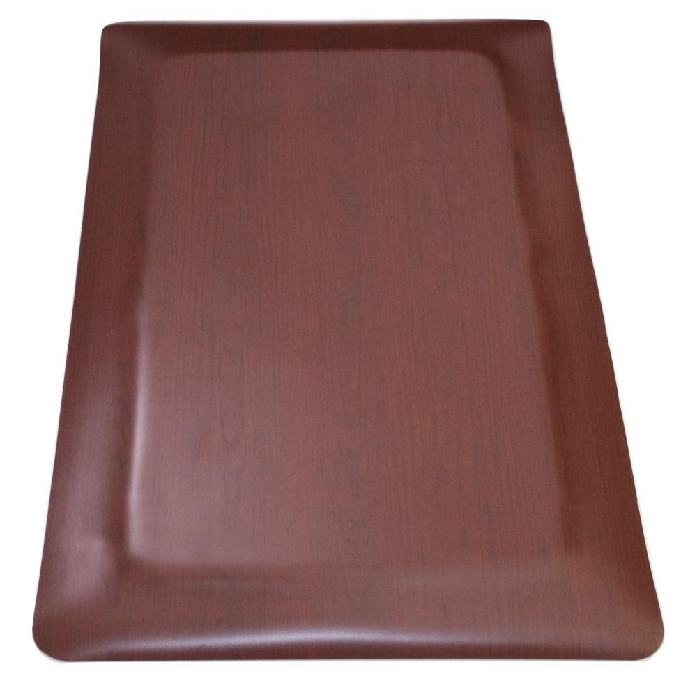 Rhino Anti-Fatigue Mats Soft Woods Walnut 24 in. x 36 in. Double Sponge  Vinyl Indoor Anti Fatigue Floor Mat