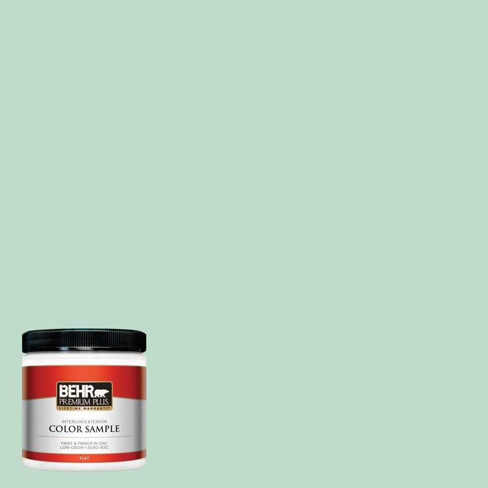8 oz. #470C-3 Spirited Green Flat Interior/Exterior Paint and Primer in