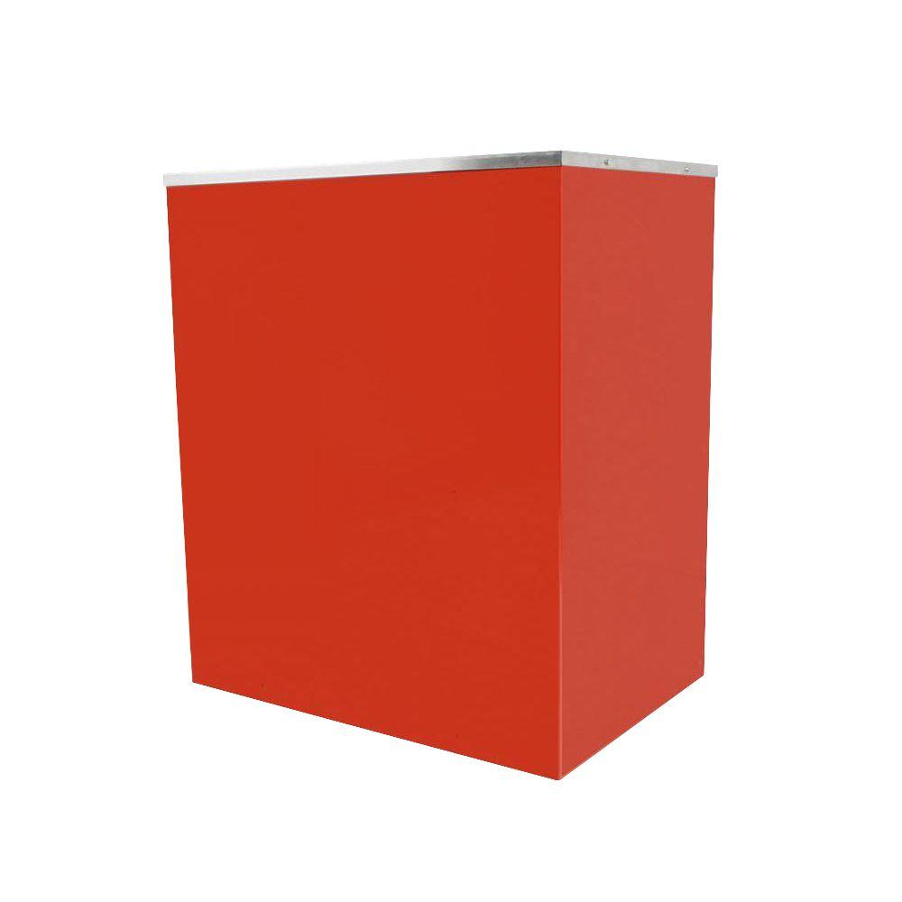 Paragon Classic Pop 16 oz. Popcorn Stand, Red/Powder Coat Stands provide easier access and better merchandising. The sturdy, all steel construction has a chip resistant coating. Also features convenient built-in storage space and breaks down easily for storage and transportation. The classic, elegant look that will enhance the most up-scale room, while maintaining the same high-end commercial quality in home use or commercial concession environments. Color: Red/Powder Coat.