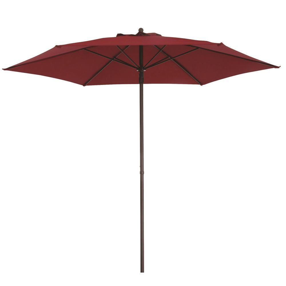 Steel Push Up Patio Umbrella In Emerald Coast Uts00203e Ec The Home Depot