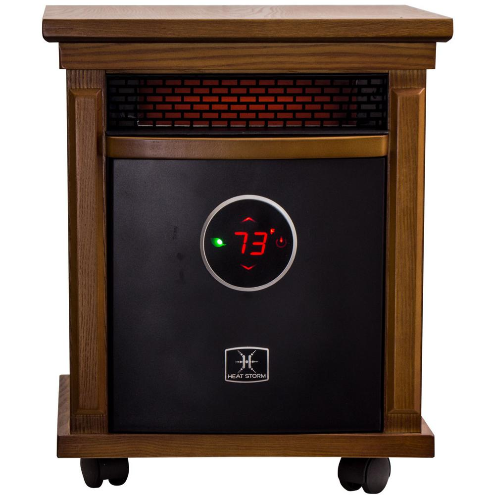 Heat Storm Smithfield Deluxe 1,500-Watt Infrared Quartz Portable Heater with Built-In Thermostat and Over Heat Sensor