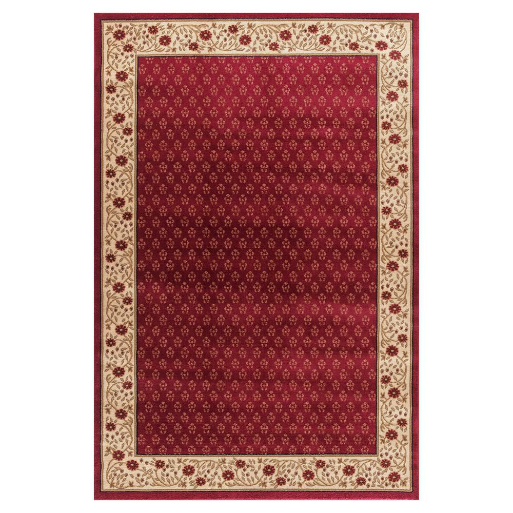 Jewel Harmony Red 7 ft. 10 in. x 9 ft. 10