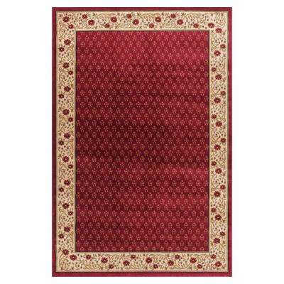 Jewel Harmony Red 7 ft. 10 in. x 9 ft. 10 in. Area Rug